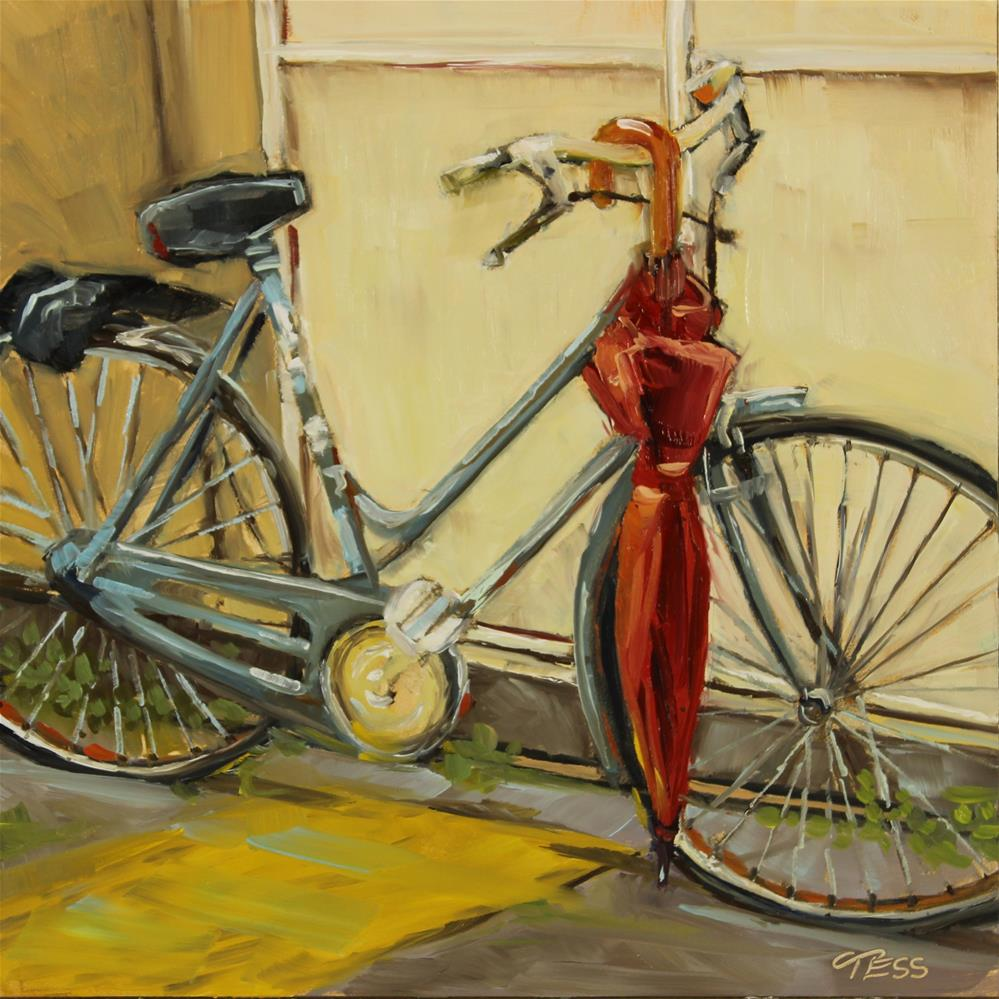 """Let It Rain- Eric Clapton"" original fine art by Tess Lehman"