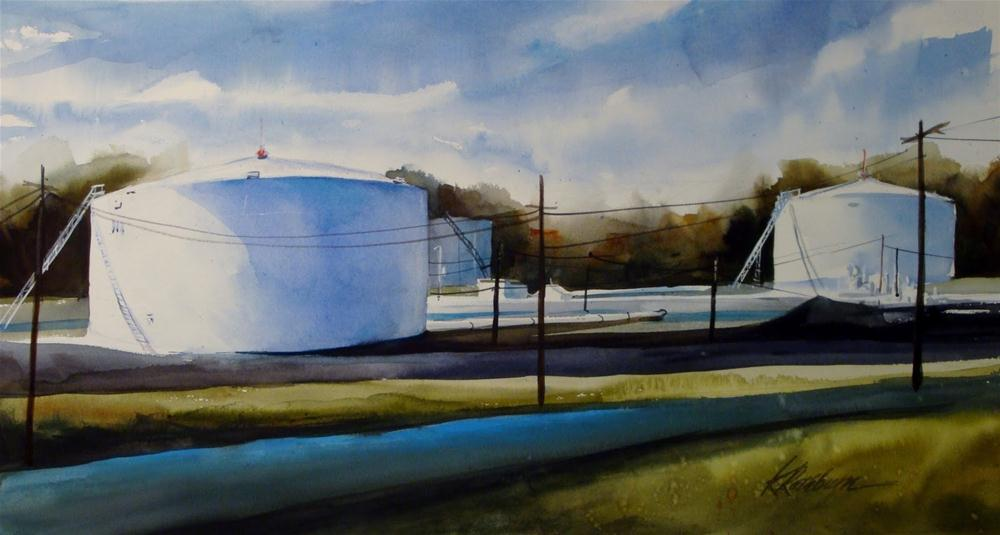 """Amoco Oil"" original fine art by Kathy Los-Rathburn"