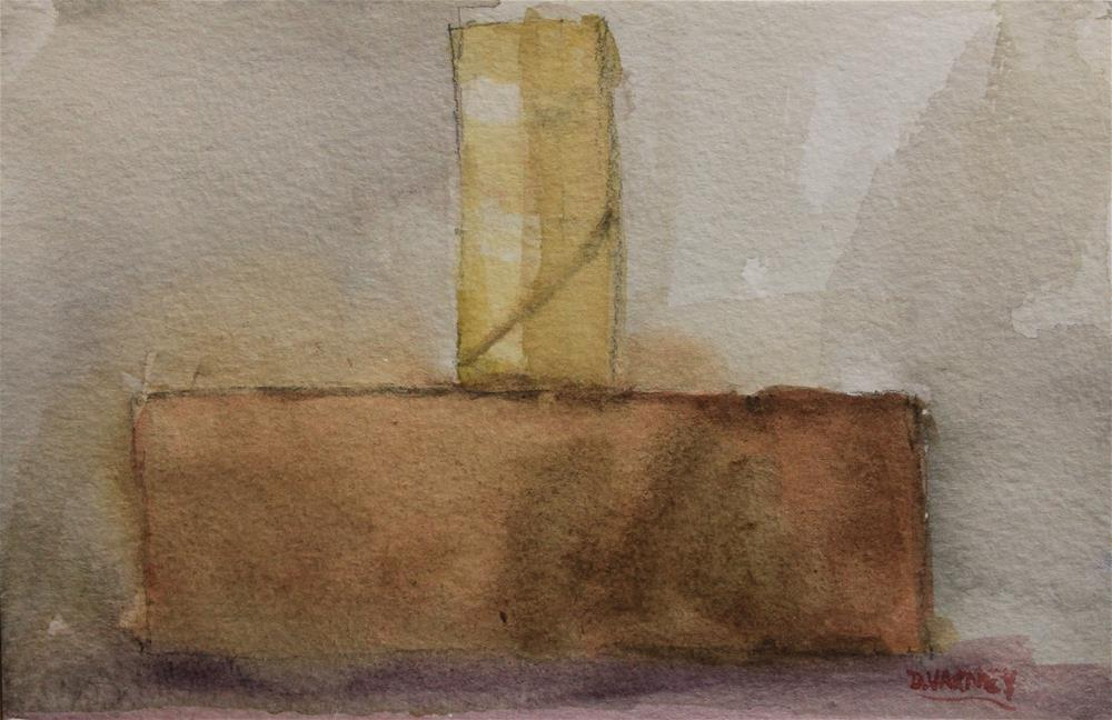 """Toilet paper roll on brick"" original fine art by Daniel Varney"