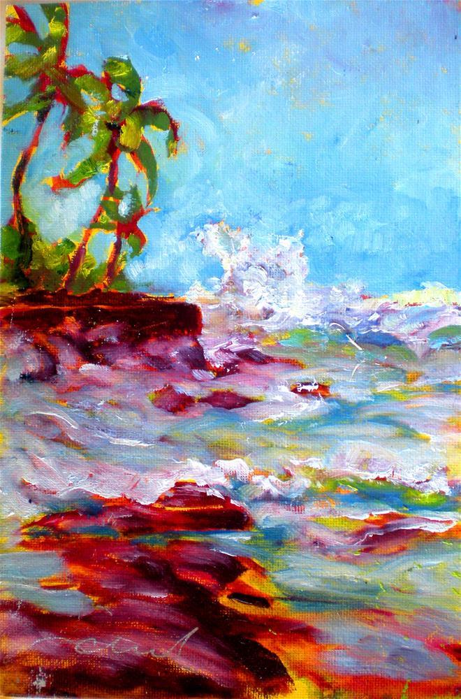 """Honls Winter Surf - 150315s"" original fine art by richard rochkovsky"