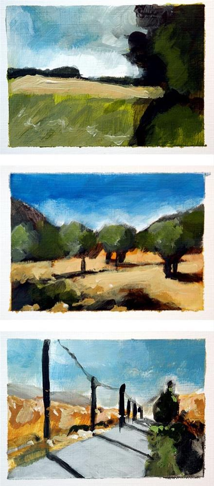 """1767 Quick Painting exercise – Part II"" original fine art by Dietmar Stiller"