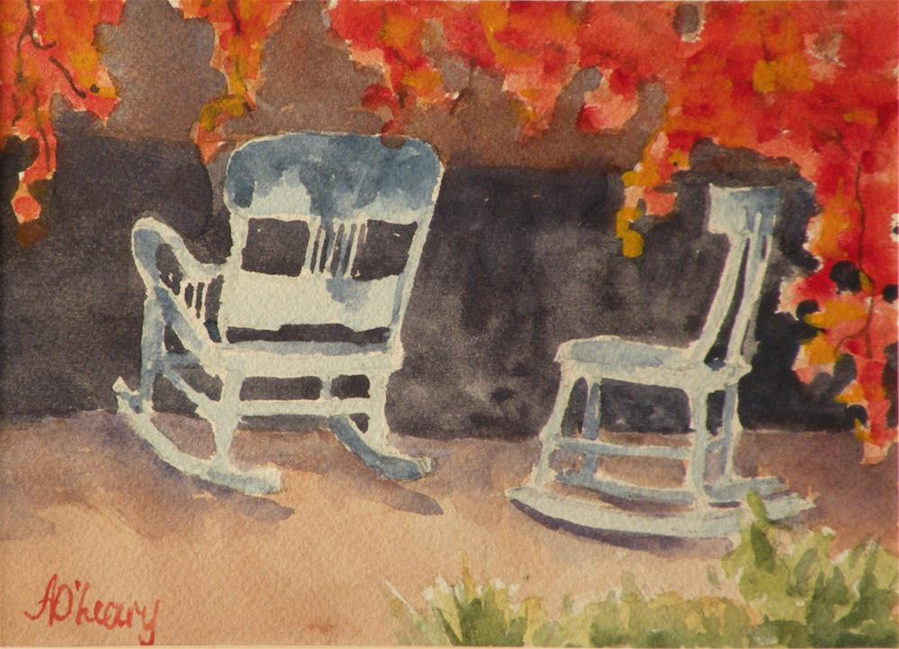 """Santa Fe Patio"" original fine art by Alice O'Leary"