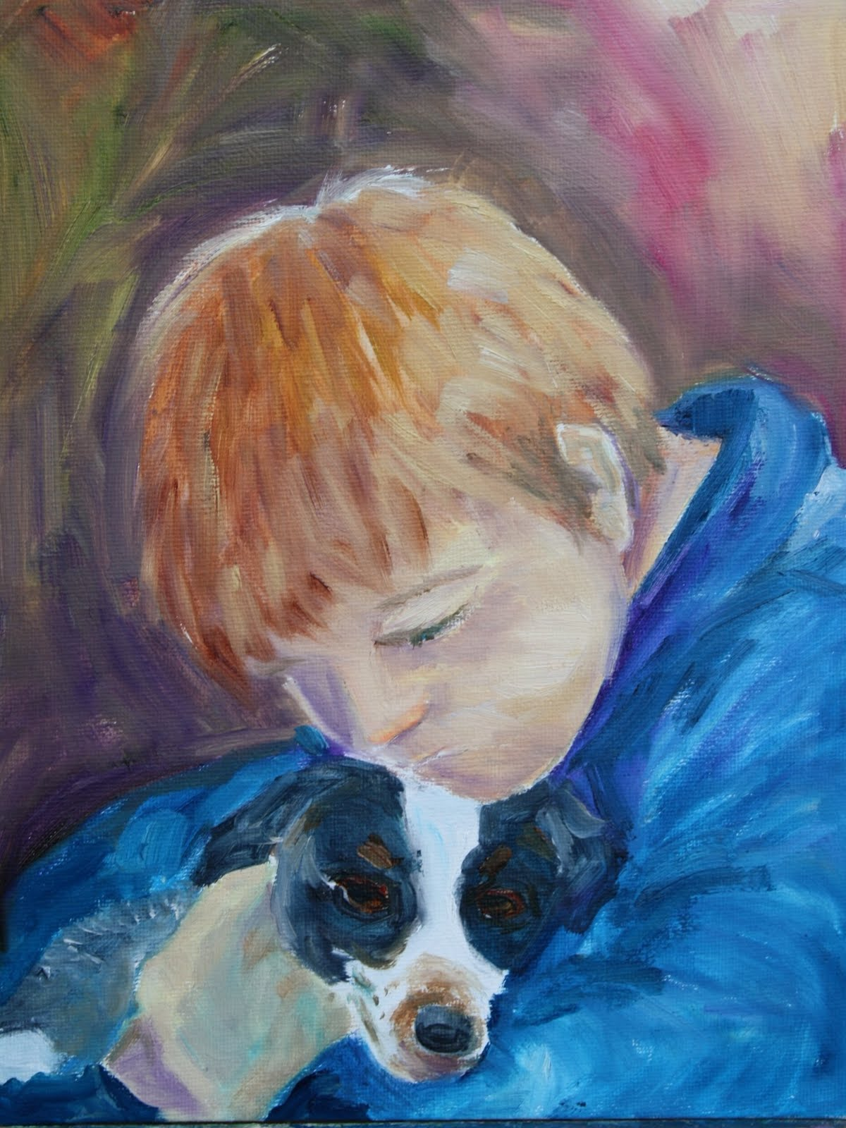 """Kevin and Murphy"" original fine art by Maggie Flatley"
