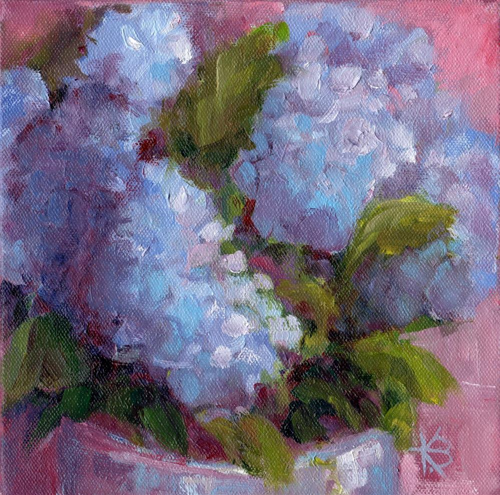 """Hydrangeas"" original fine art by Kathy Bodamer"