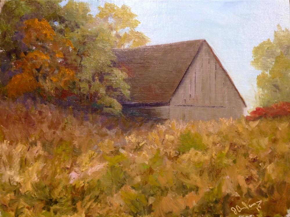 """Dodge Barn"" original fine art by Judith Anderson"