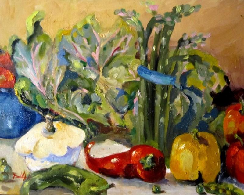 """Farm Fresh Vegetables"" original fine art by Delilah Smith"