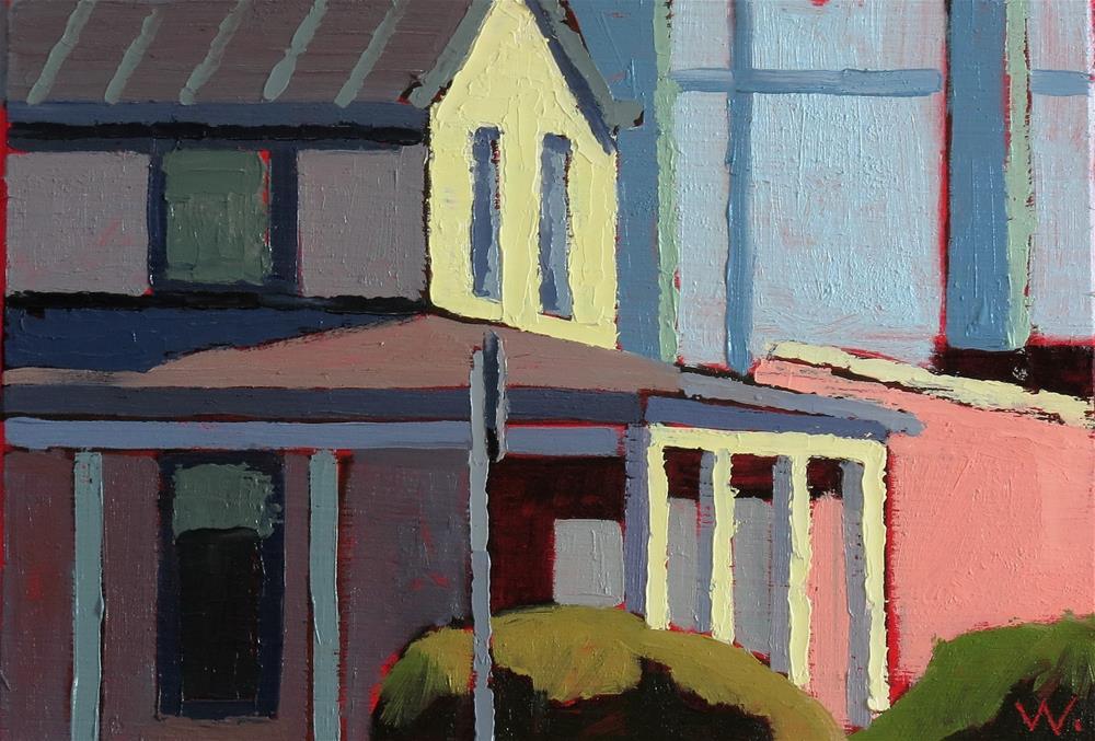"""""""Warrenton 9am"""" original fine art by Joan Wiberg"""