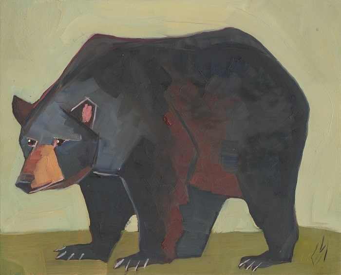 """Black Bear"" original fine art by Elizabeth See"