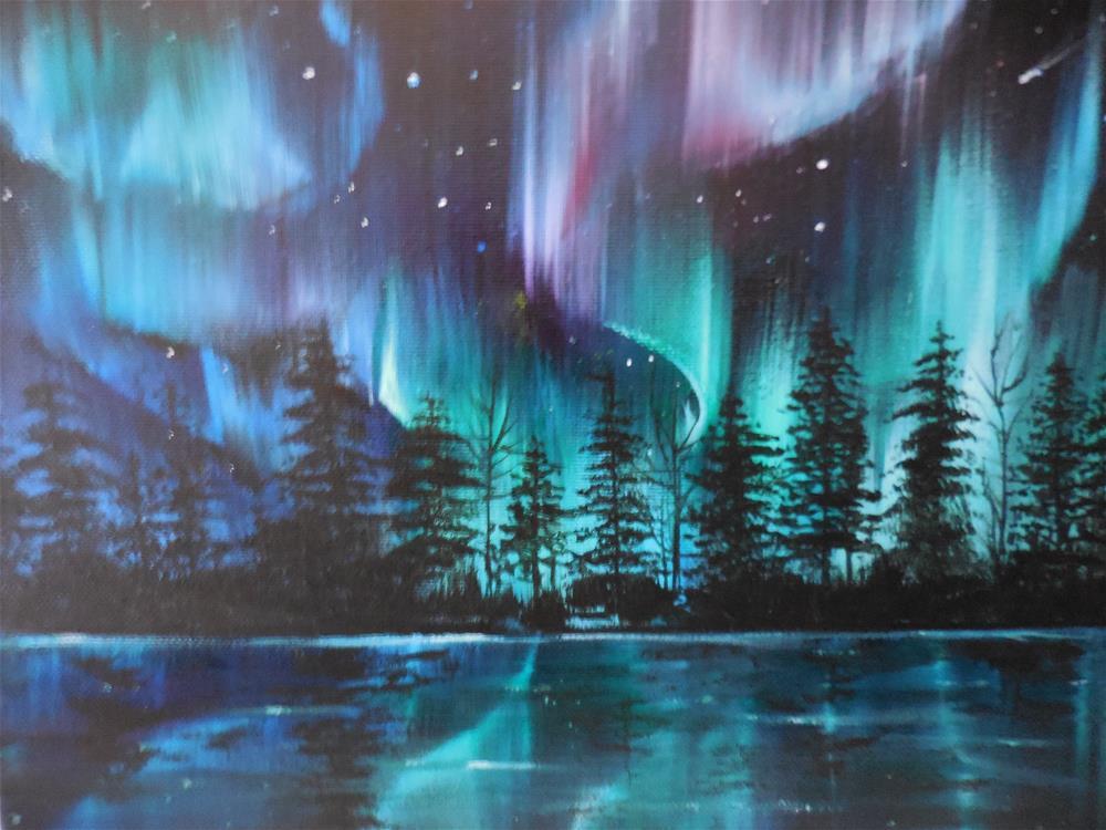 """Aurora Borealis"" original fine art by Terri Nicholson"