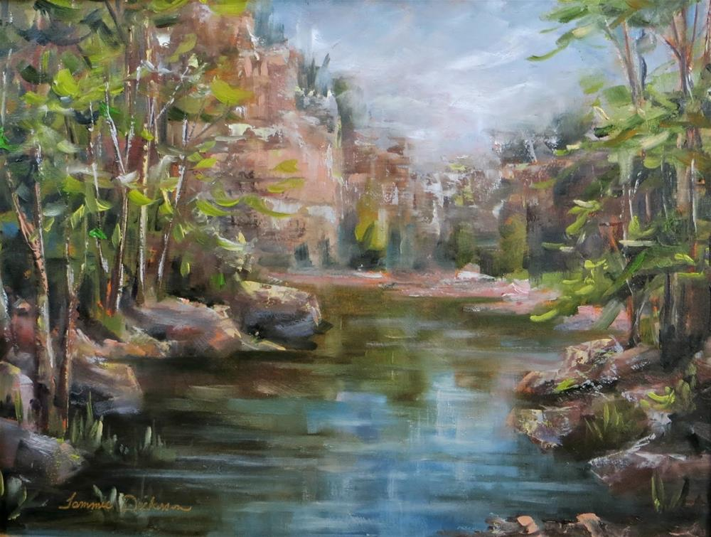 """Hidden Lake"" original fine art by Tammie Dickerson"