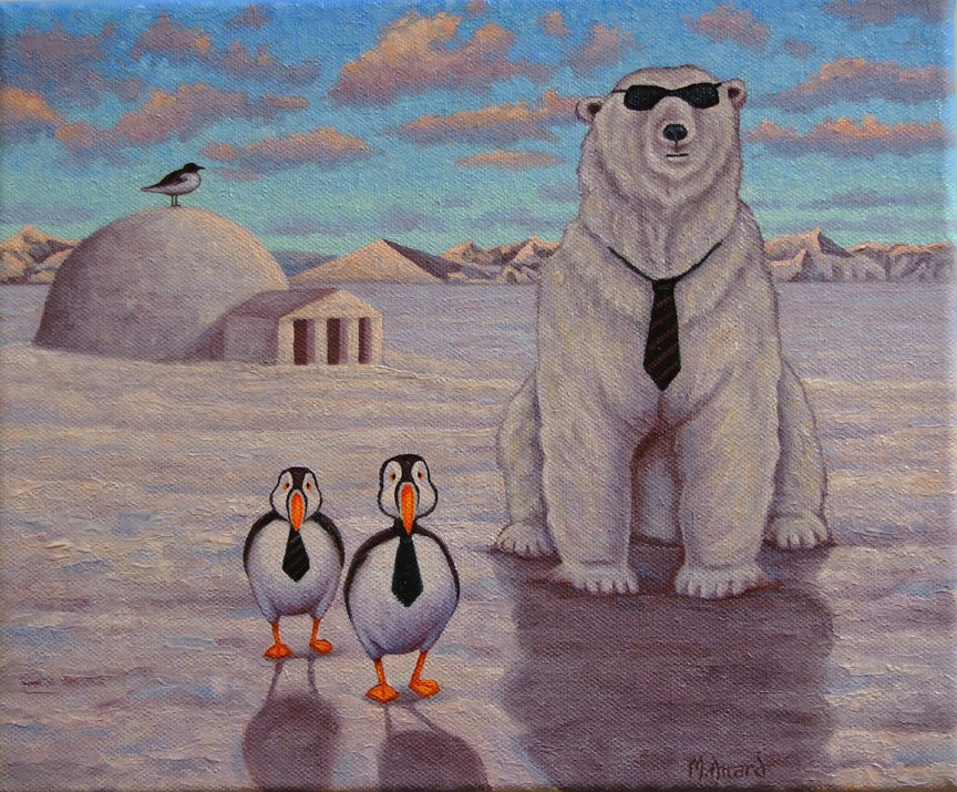 """The Arctic Election"" original fine art by Mark  Attard"