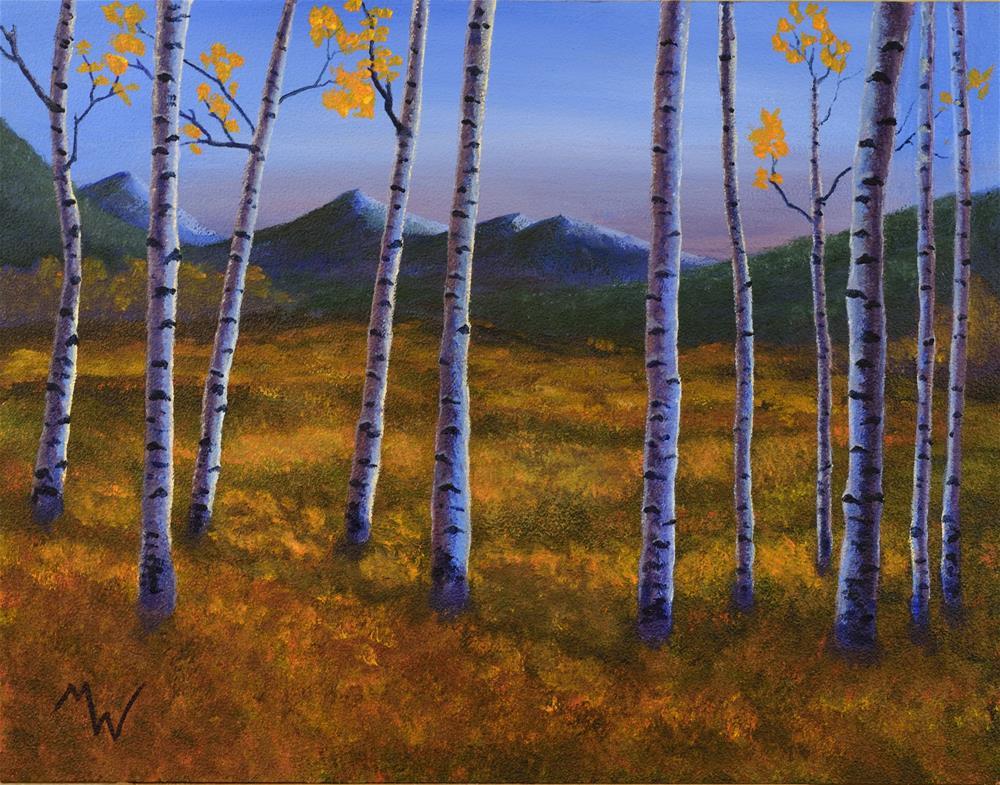 """""""Blue Aspen"""" original fine art by Michelle Wolfe"""