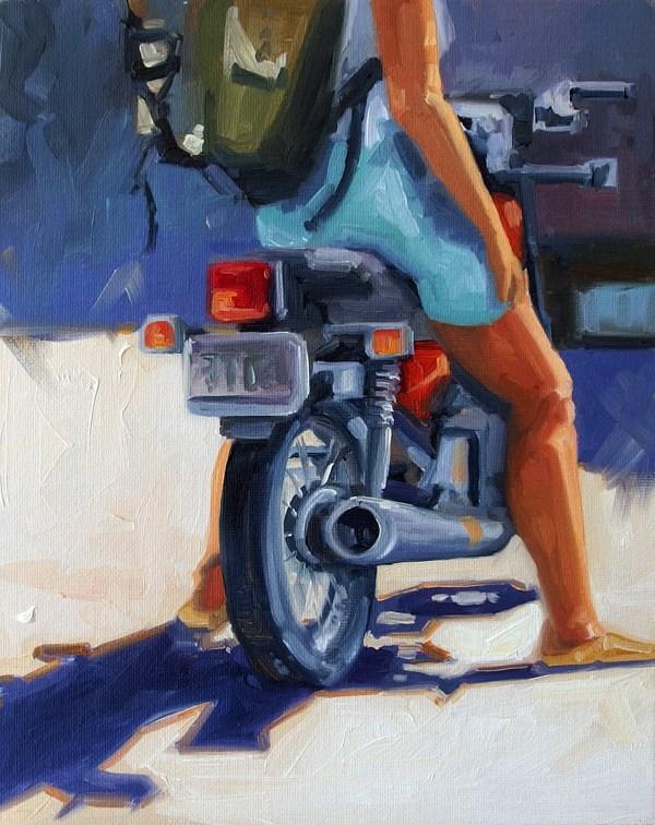 """No 712 All ready"" original fine art by Robin J Mitchell"