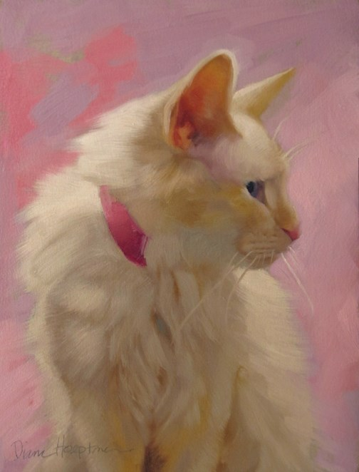 """Pretty on Pink when neutrals have lots of color"" original fine art by Diane Hoeptner"