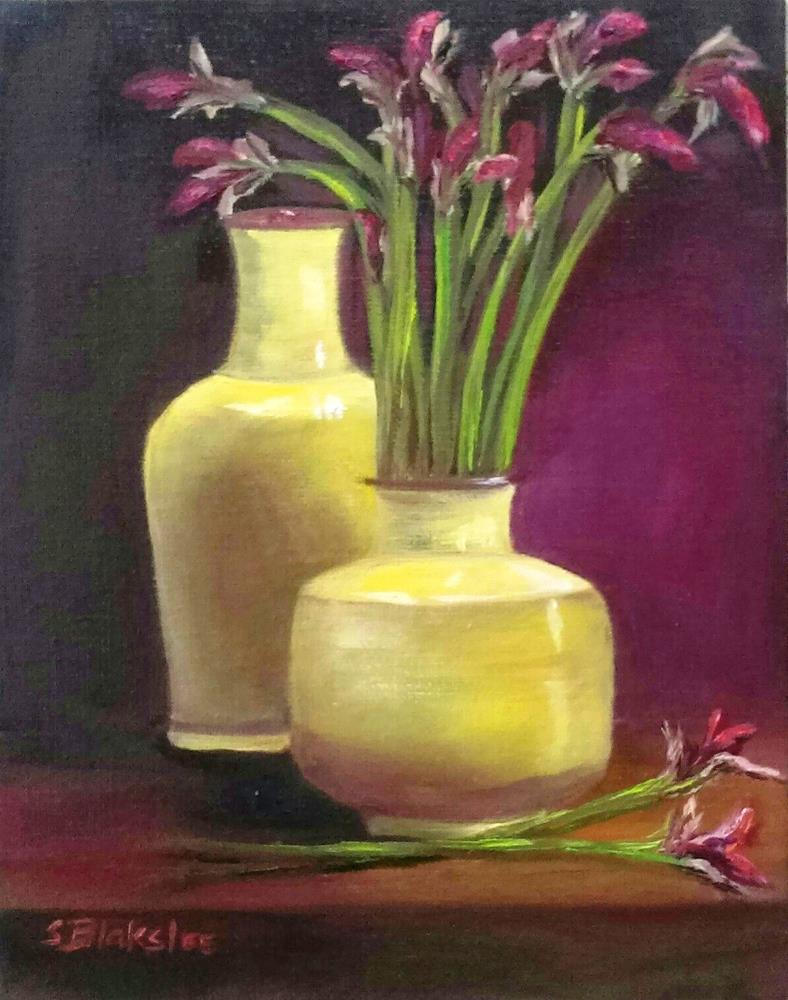 """Yellow and Purple"" original fine art by Sissy Blakslee"