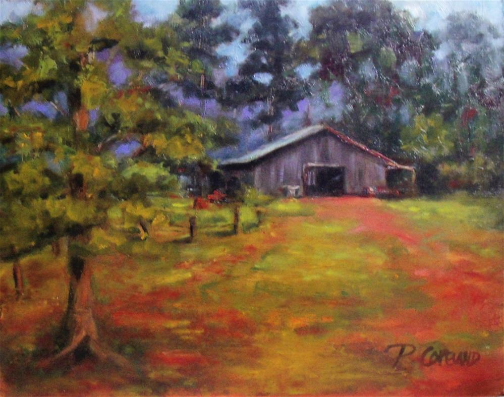 """Morning on the Farm"" original fine art by Pamela H. Copeland"