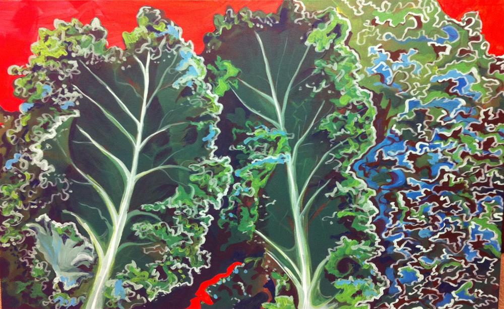"""Kale"" original fine art by Teddi Parker"