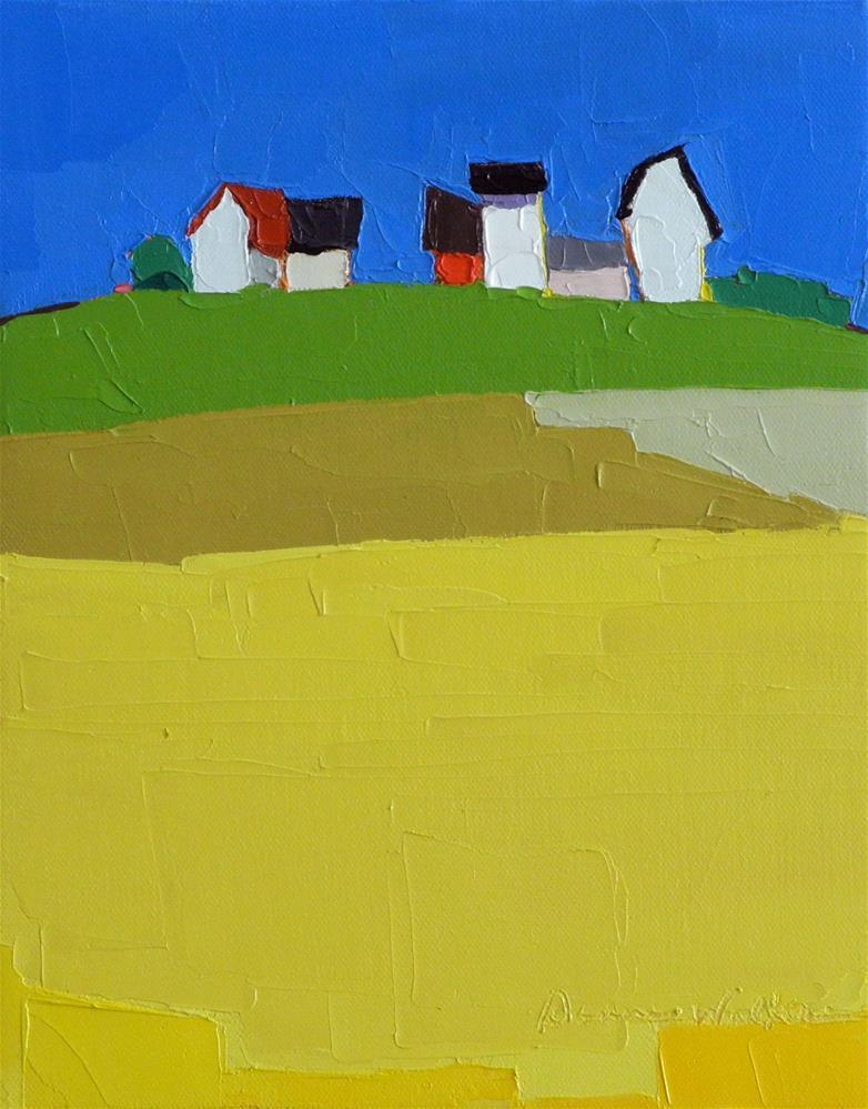 """Vibrant Day"" original fine art by Donna Walker"