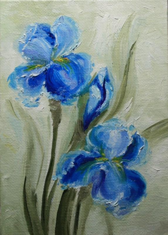 """Irises"" original fine art by Jean Nelson"
