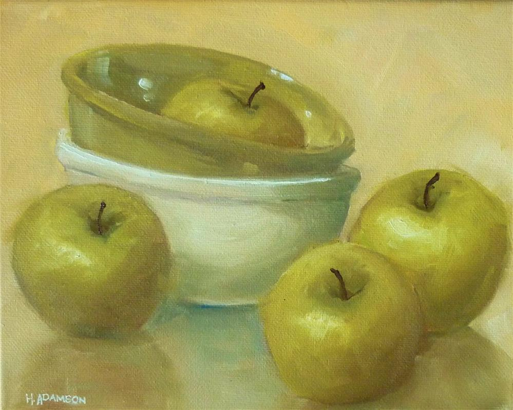 """Apples and Bowls"" original fine art by Helene Adamson"