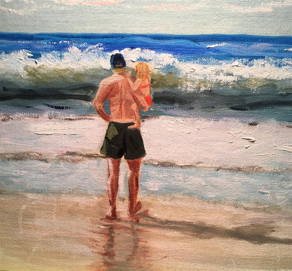 """Same Dad Different Daughter (commissioned piece)"" original fine art by Patty Barnes"