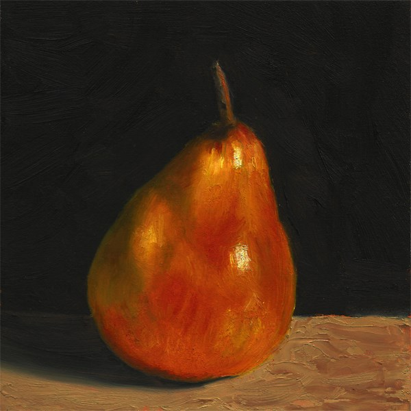 """Blush pear"" original fine art by Peter J Sandford"