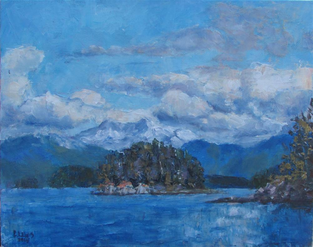 """Return to Auke Bay"" original fine art by Christine Lewis"
