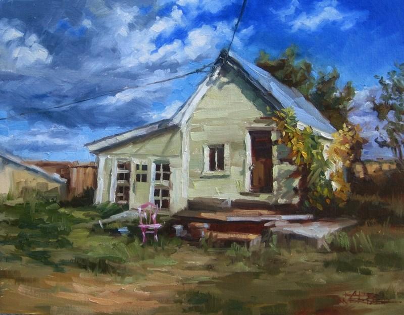 """Home On The Range"" original fine art by Karen Werner"