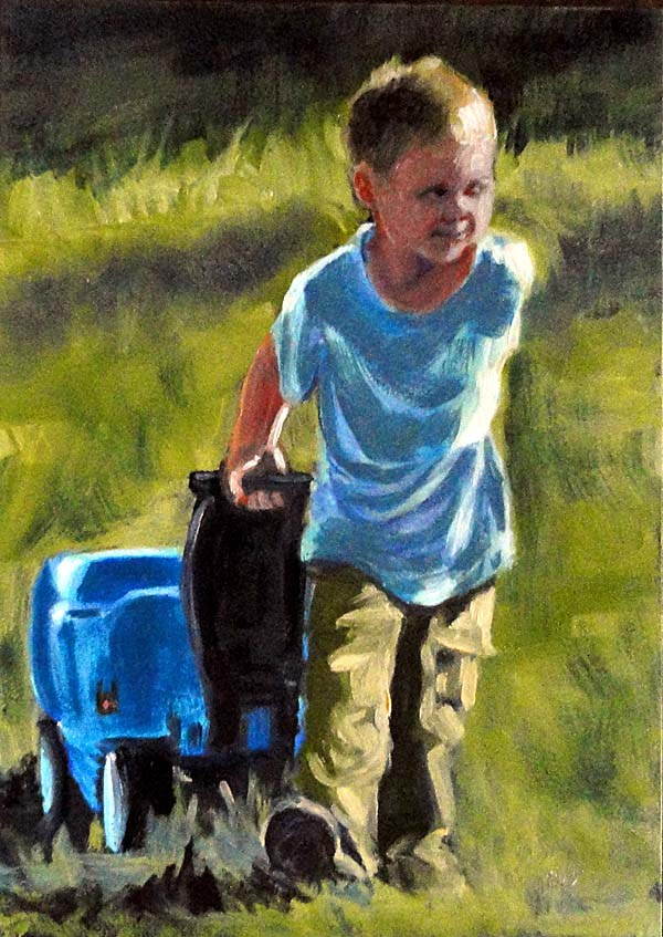 """Wagonful of Dreams"" original fine art by Cietha Wilson"