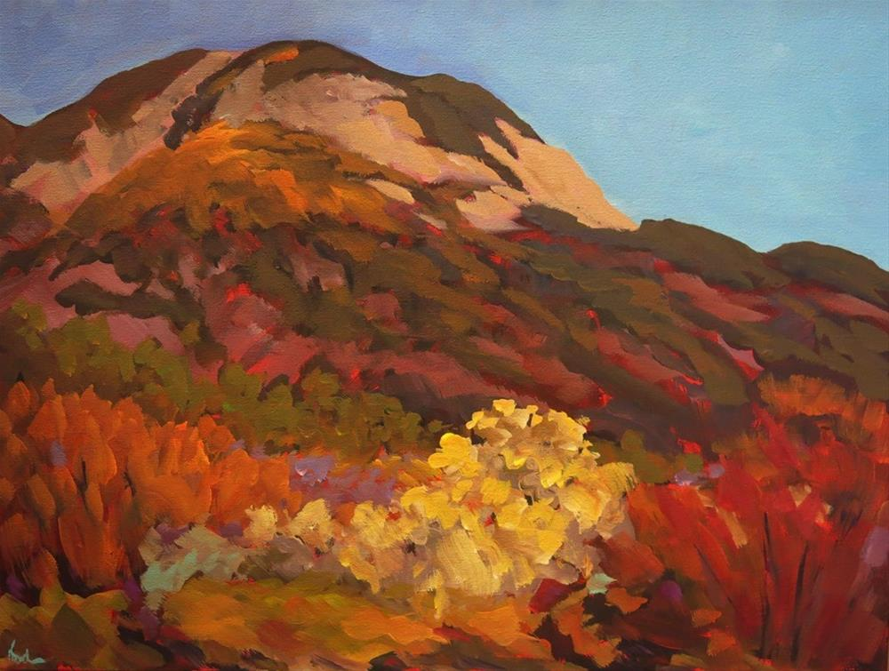 """TINO'S PEAK"" original fine art by Dee Sanchez"
