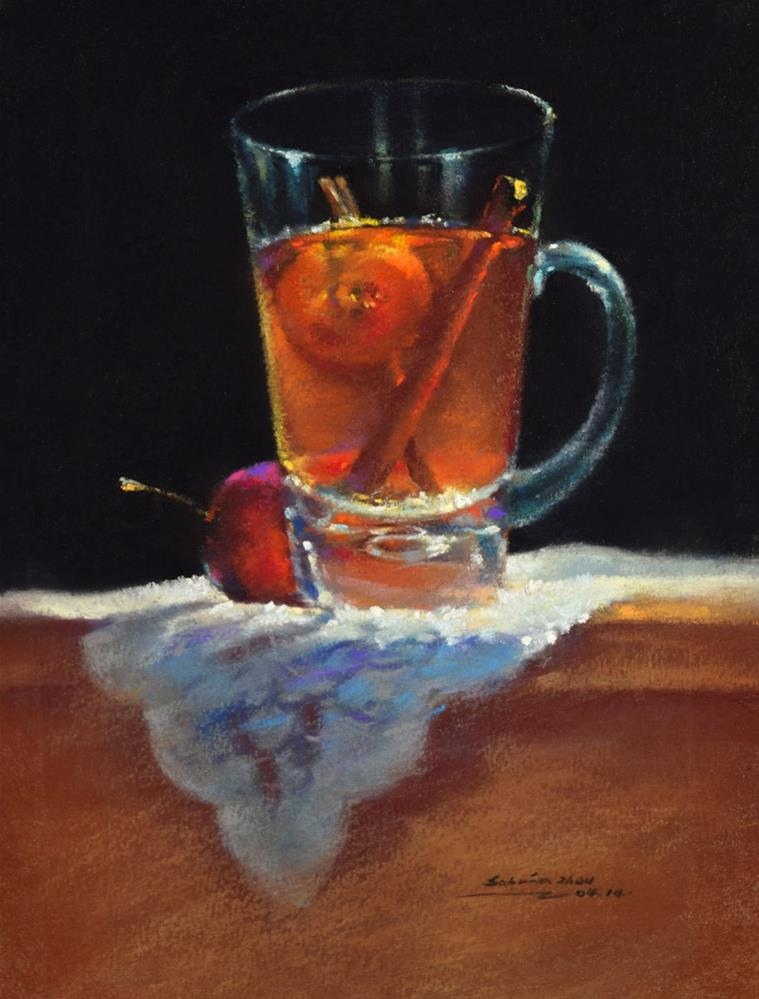 """Summer Drink"" original fine art by Sabrina Zhou"