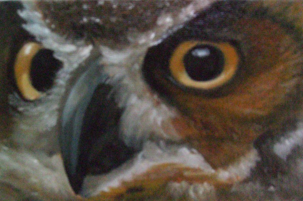 """A Real Hoot"" original fine art by Patricia J. Powers"