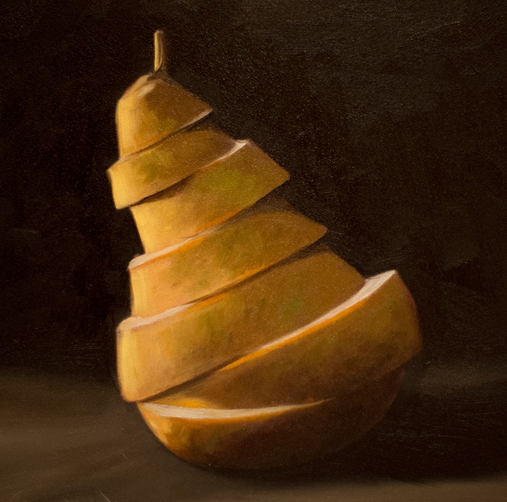 """Sliced Pear"" original fine art by Lauren Pretorius"