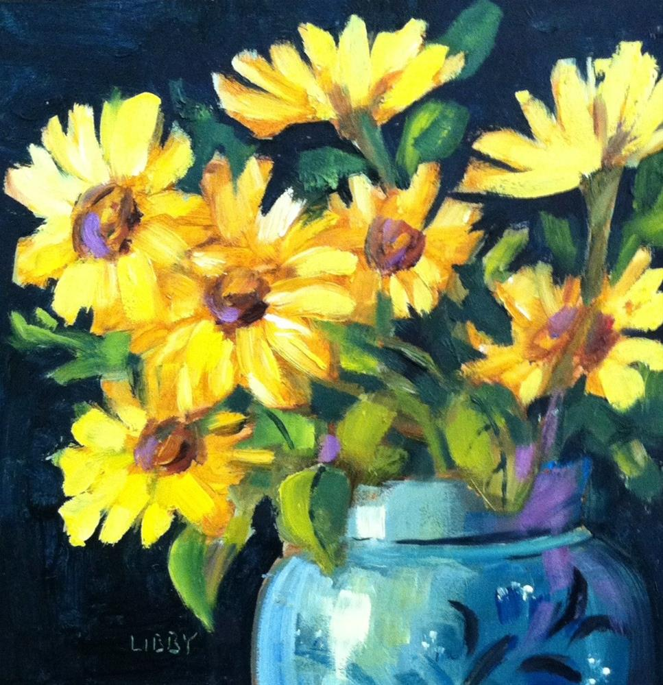 """Daisy Dance"" original fine art by Libby Anderson"