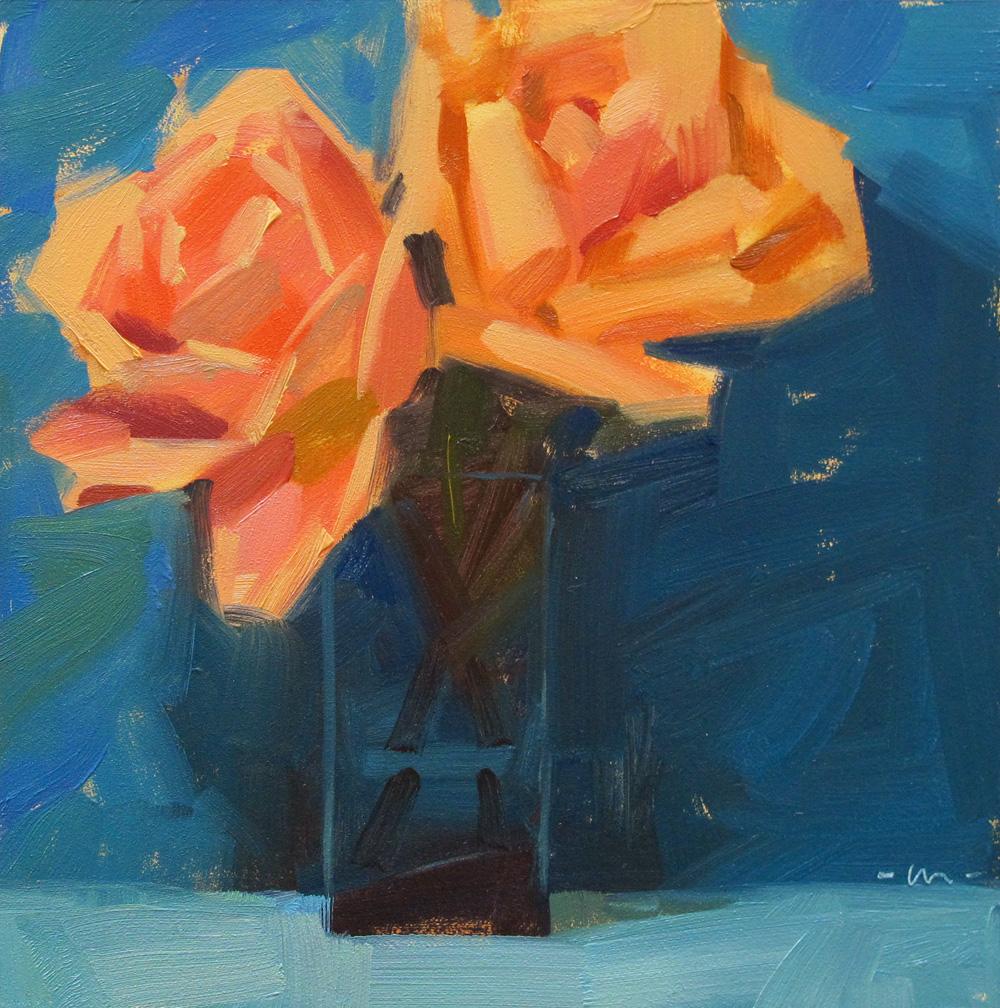 """Rose Rapture"" original fine art by Carol Marine"