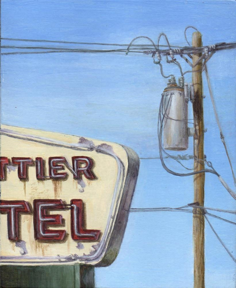 """Motel 3"" original fine art by Debbie Shirley"