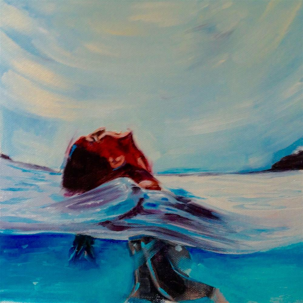 """Breaking the Surface"" original fine art by Bev Thibault"