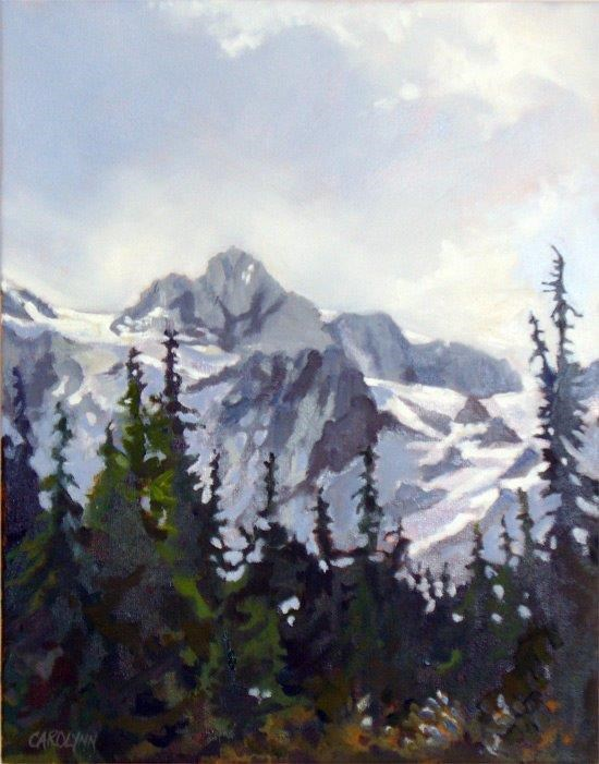 """View of Mount Shuksan"" original fine art by Carolynn Doan"