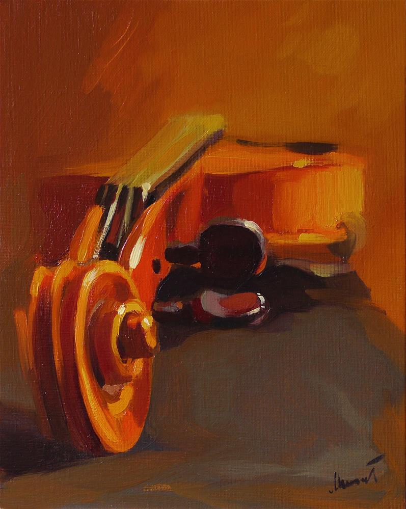 """violin_small"" original fine art by Beata Musial-Tomaszewska"