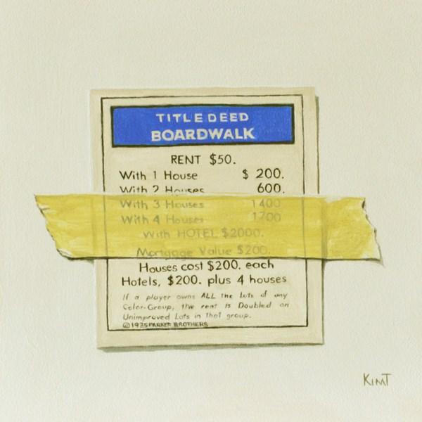 """I Own Boardwalk"" original fine art by Kim Testone"