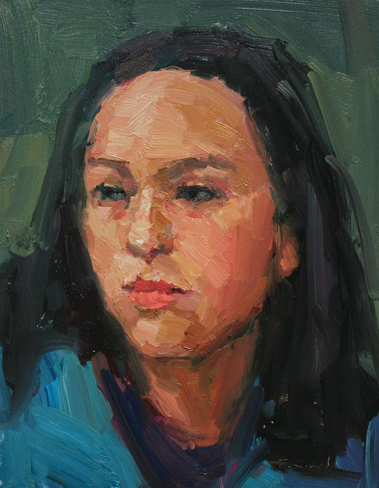 """Portrait Study #3"" original fine art by Kathryn Townsend"