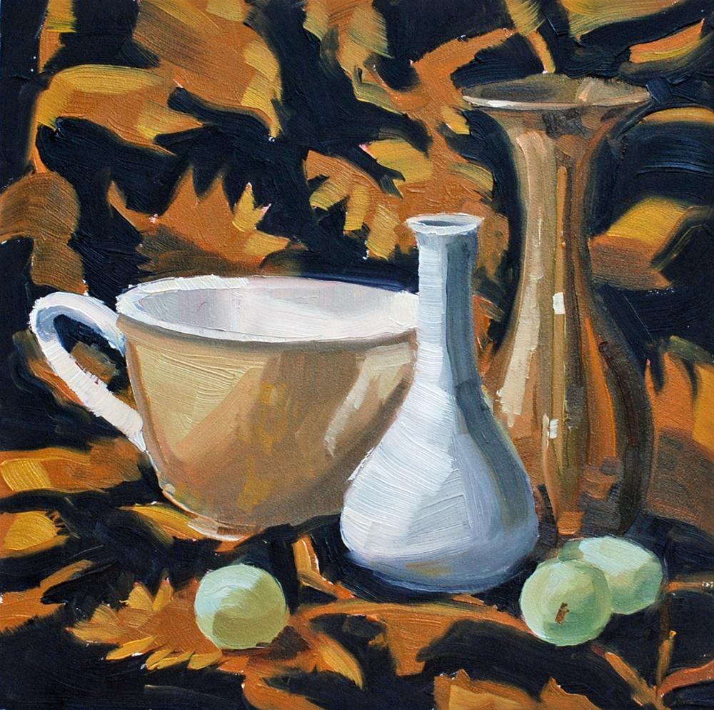 """Golden Still Life"" original fine art by Susan McManamen"
