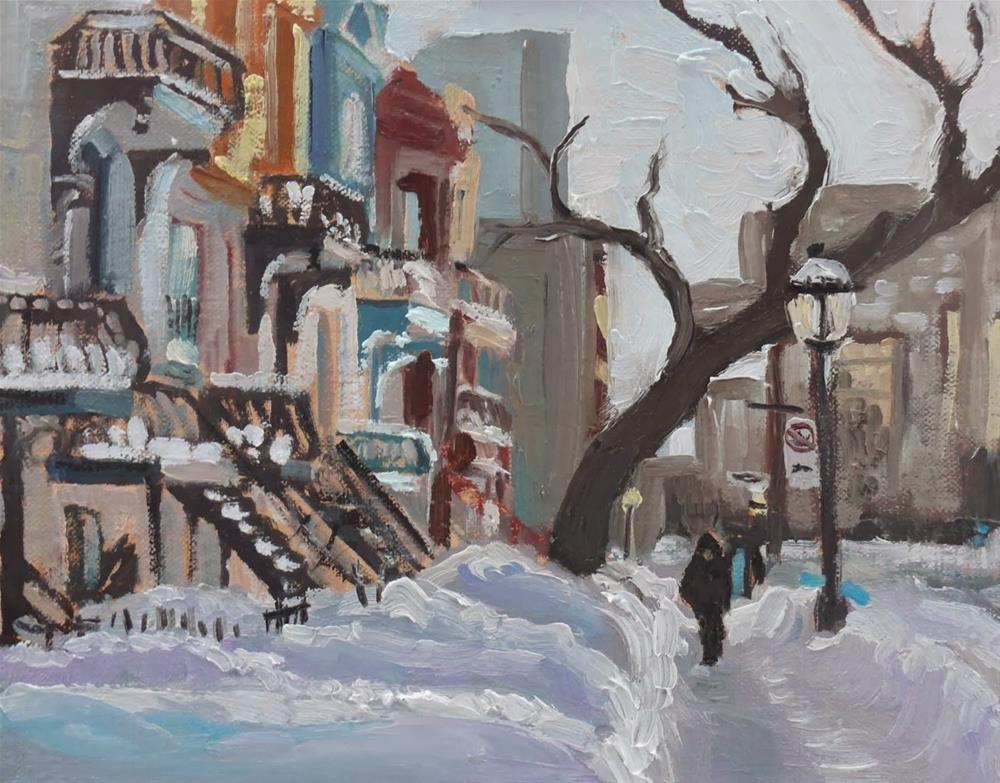 """704 Montreal, Sherbrooke Est"" original fine art by Darlene Young"