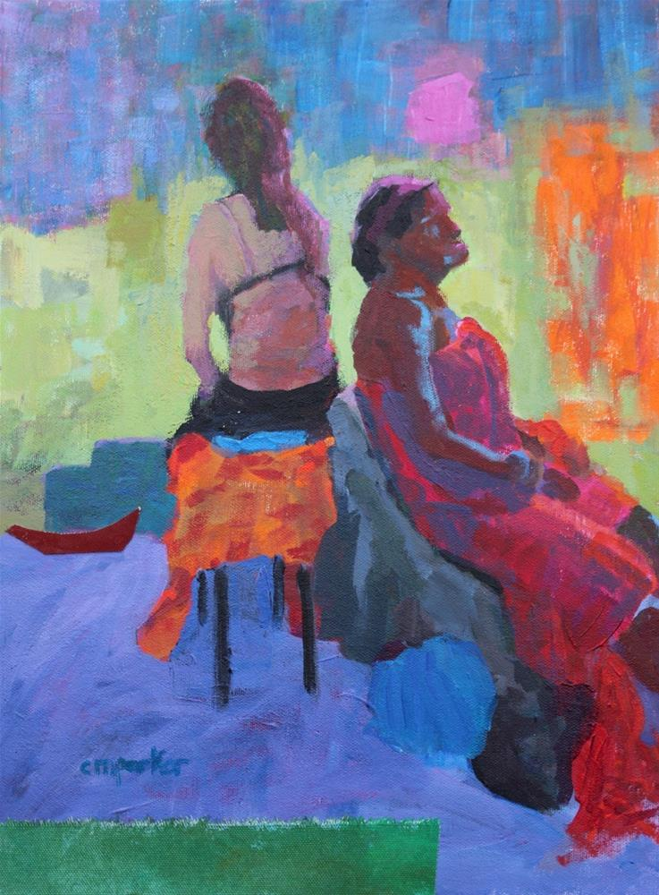 """Figurative Acrylic and Collage"" original fine art by Christine Parker"