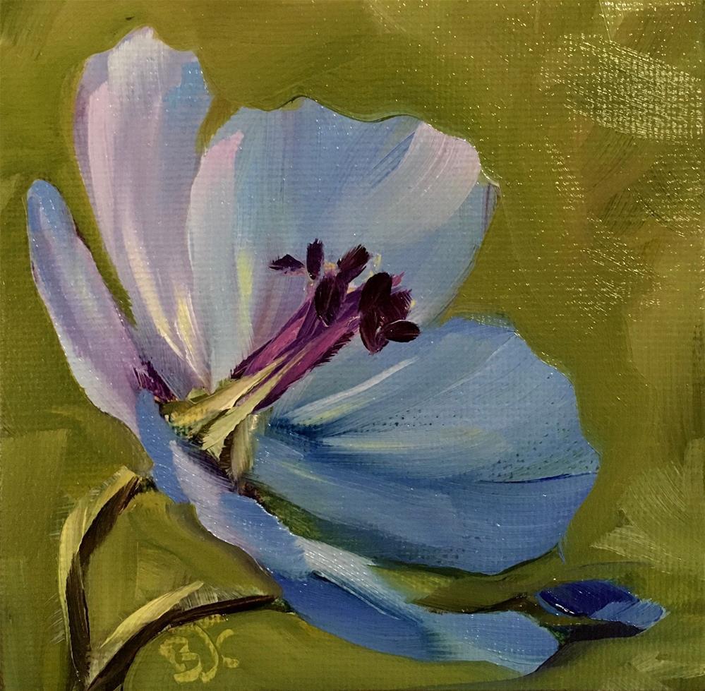 """""""Wild Geranium"""" original fine art by Bobbie Cook"""