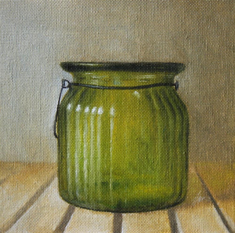 """""""Green Vase"""" original fine art by Jonathan Aller"""