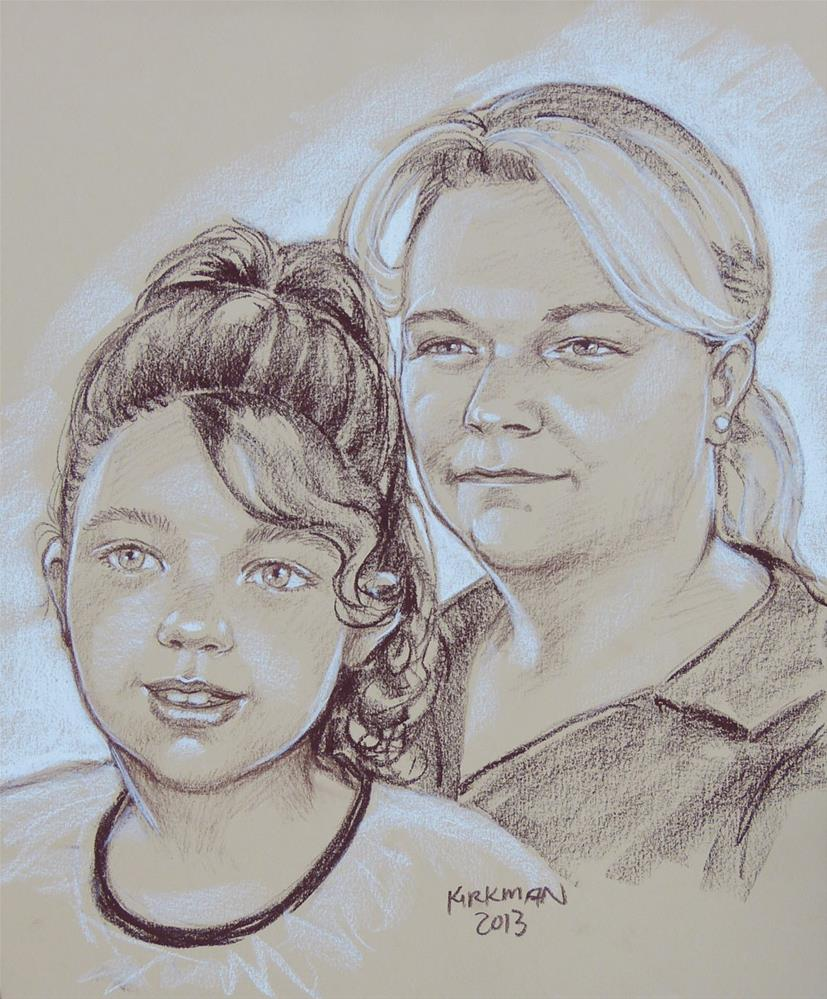 """Family Quick-Sketch Portraits"" original fine art by Rita Kirkman"