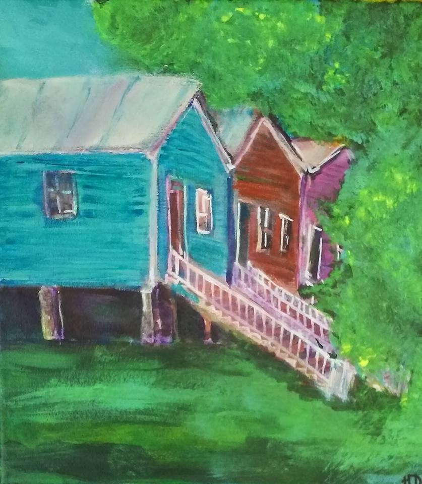 """Somewhere near Sprague Street"" original fine art by Hallie Dozier"