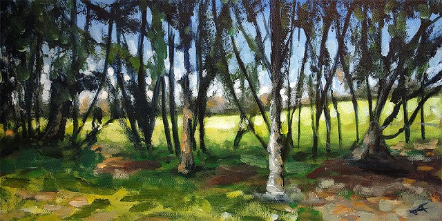 """Through the Trees"" original fine art by J. Farnsworth"