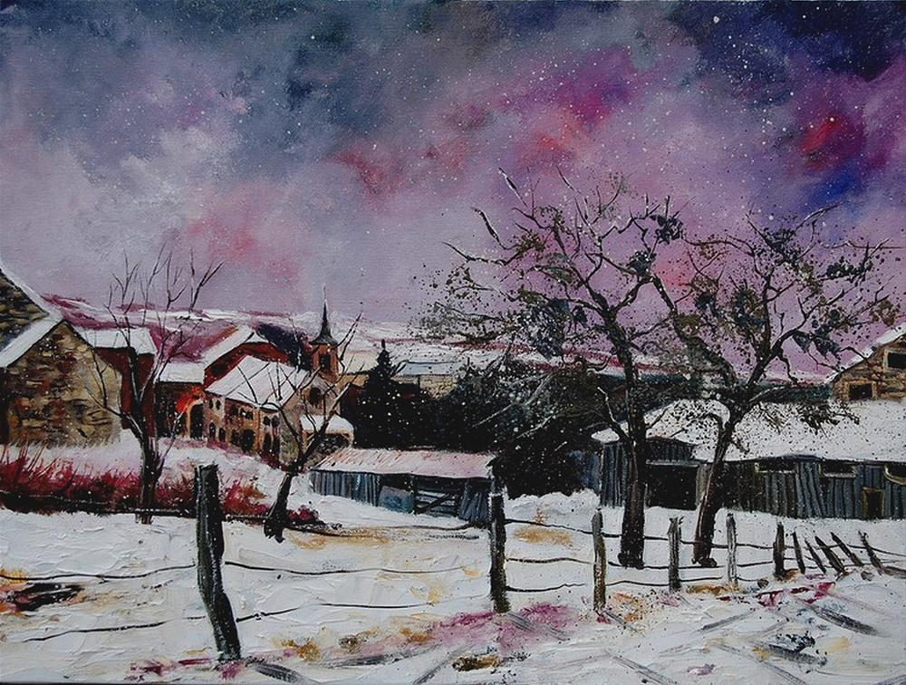 """snow in hulso"" original fine art by Pol Ledent"